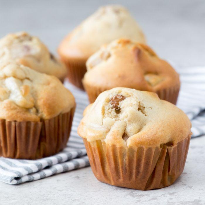 Peren muffins met pecannoten en banaan