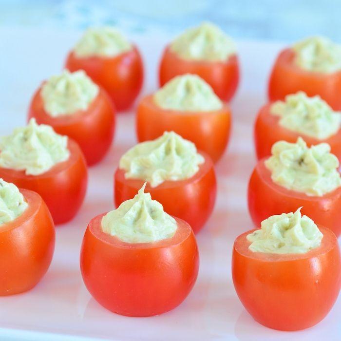 Pesto roomkaas tomaatjes