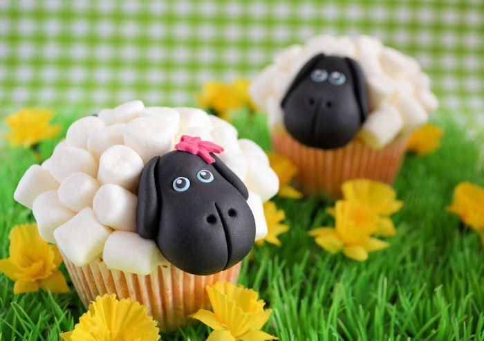 Op de boerderij: Schapen cupcakes