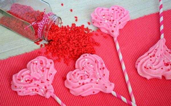 Valentijn meringue pops - schuim harten