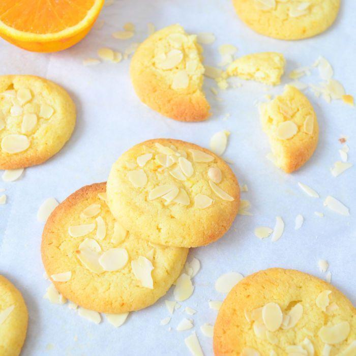 Sinaasappel amandel koekjes