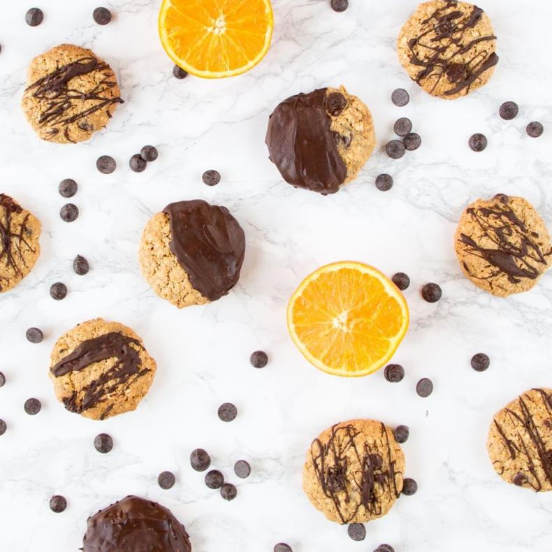 Sinaasappel chocolate chip havermoutkoekjes