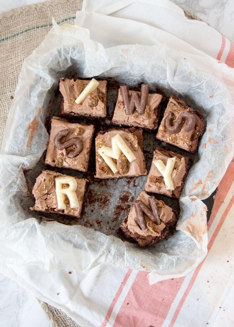 Sinterklaas brownies met speculaas