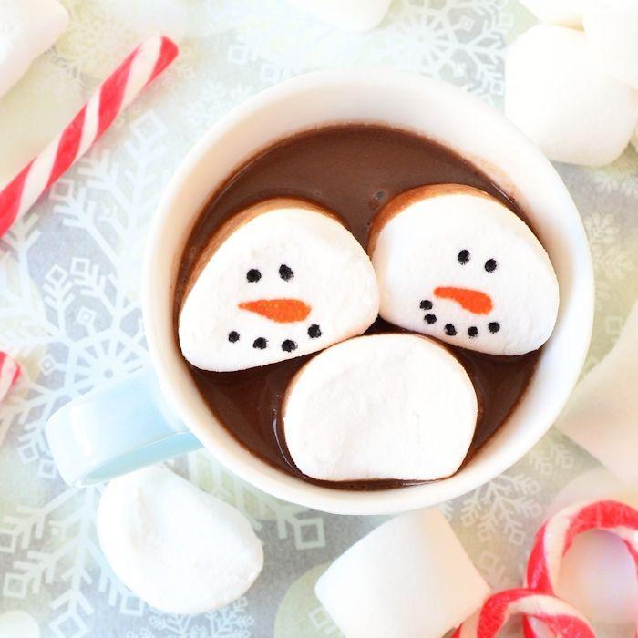 Sneeuwman marshmallows