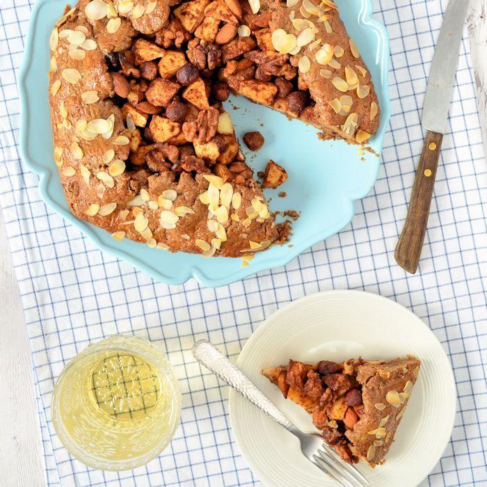 Speculaas galette met appel, peer en noten