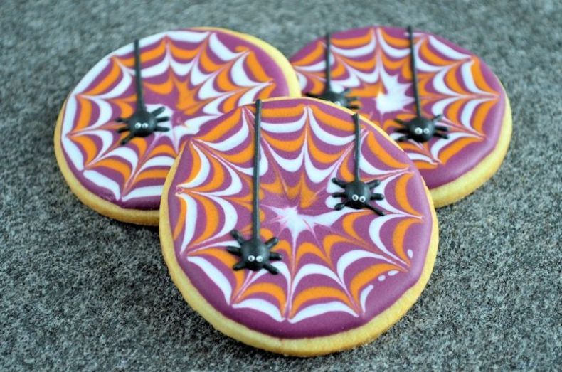 Spinnenweb koekjes