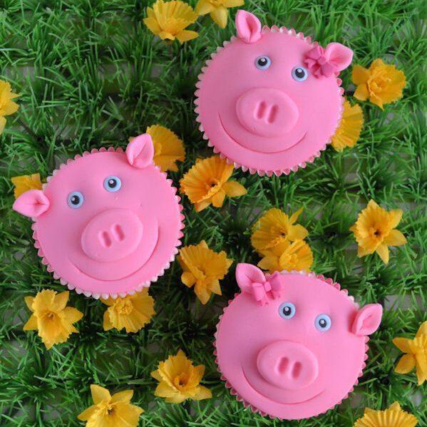 Op de boerderij: Varken cupcakes