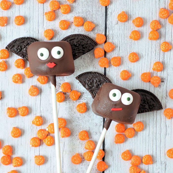 Vleermuizen marshmallow pops