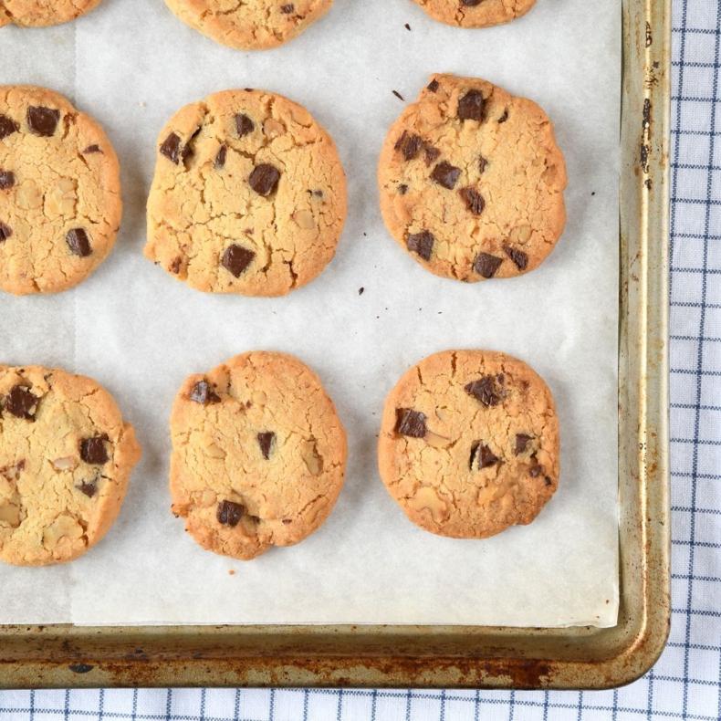 Walnoten-chocolate chip koekjes