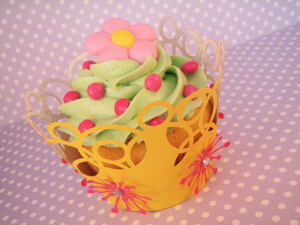Cupcake wrappers uitgetest