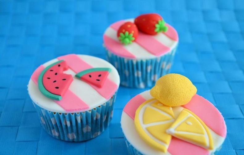 zomerse fruit cupcakes