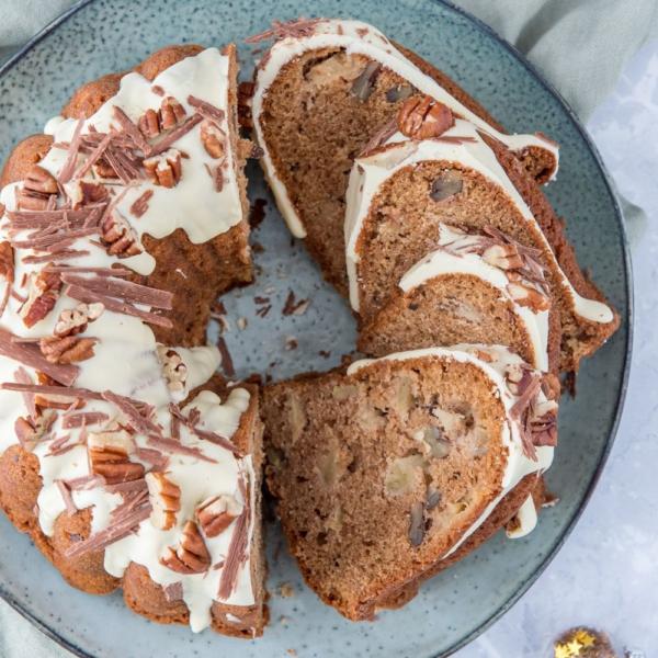 Appel-pecan gingerbread tulband