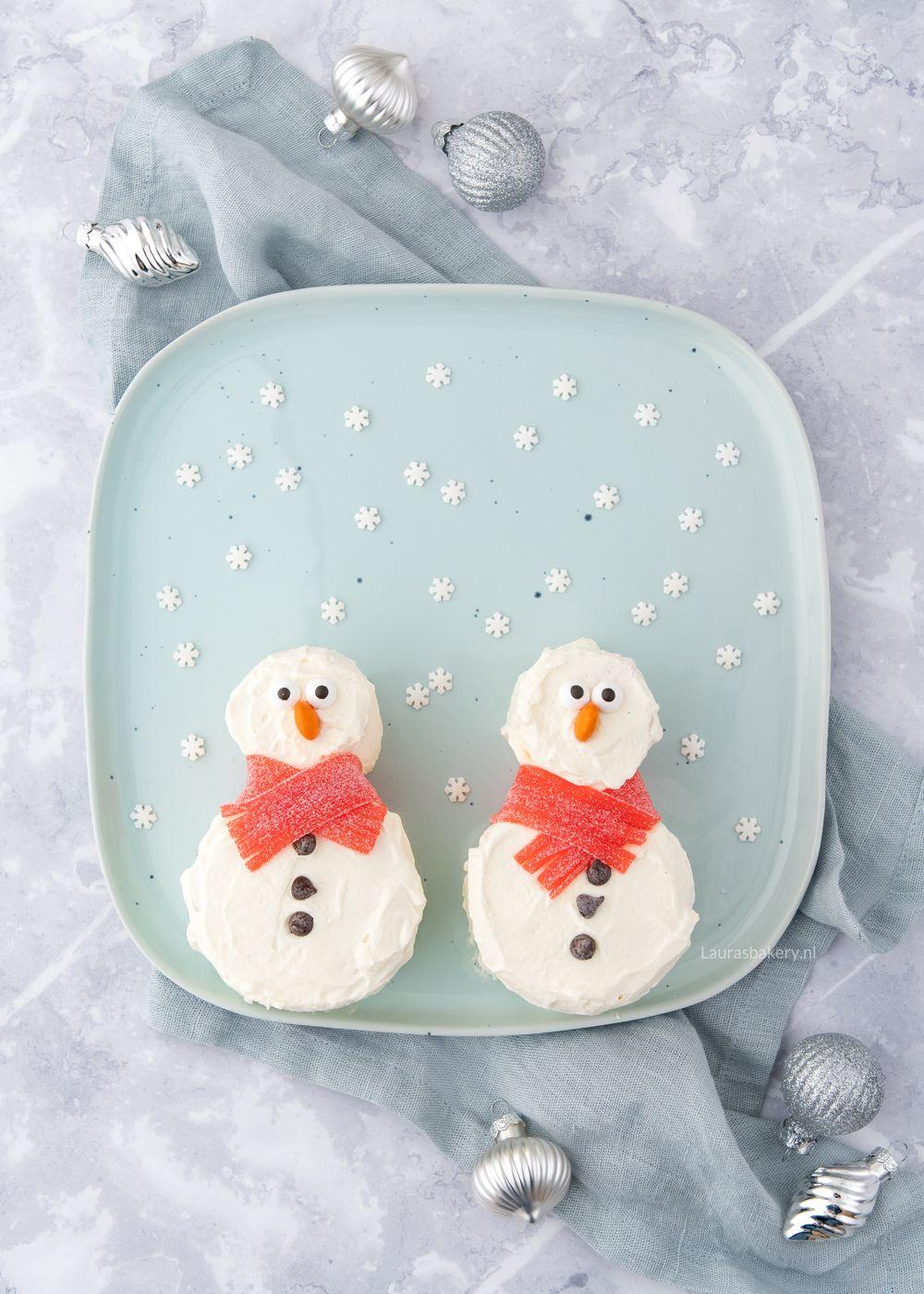 Sneeuwpop taartjes