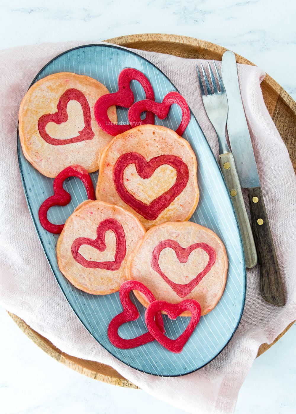 Valentijn pancakes met harten