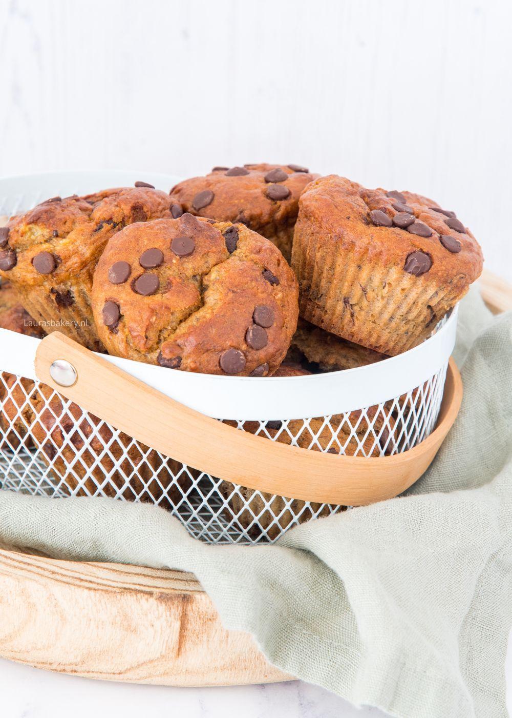 Banaan-pindakaas muffins