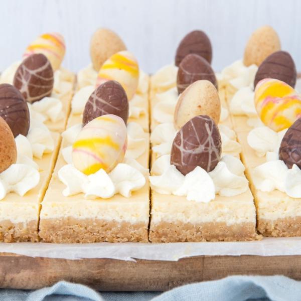 Citroen cheesecake bites met paaseitjes