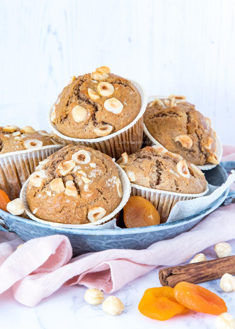 Abrikozen-hazelnootmuffins