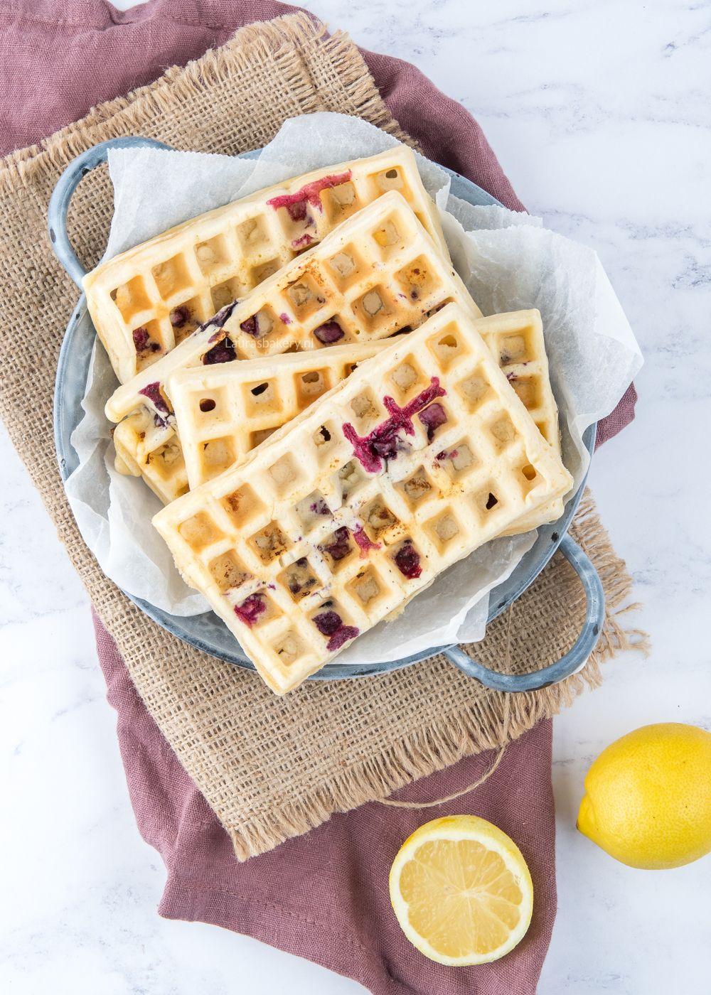 Blueberry-lemon wafels
