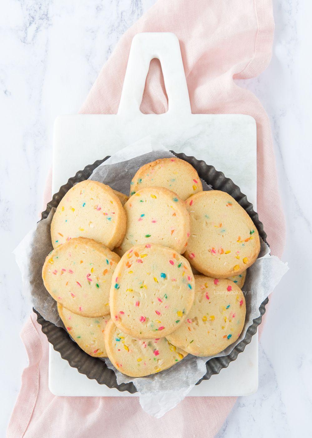 Confetti shortbread koekjes