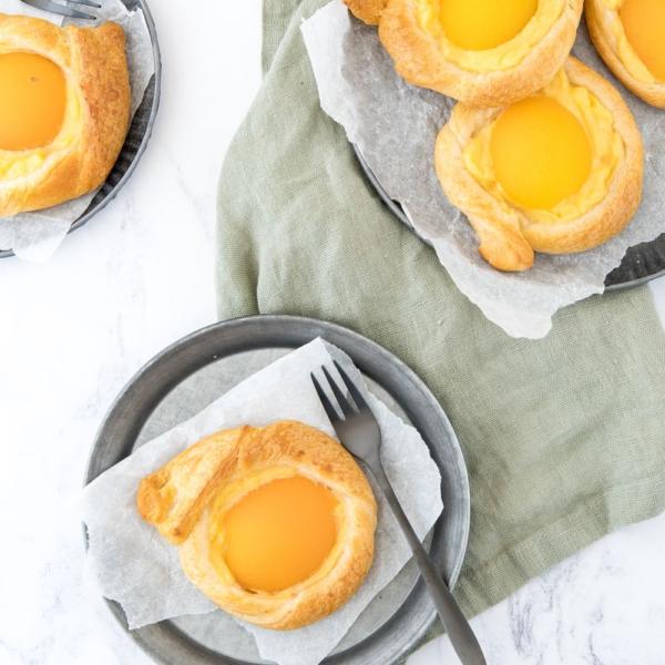 Snelle Deense abrikozen broodjes