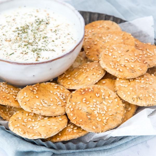 Griekse sesamcrackers