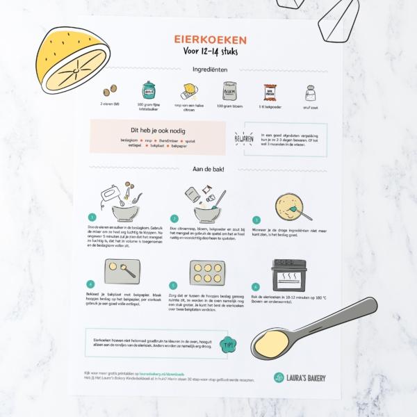 Nieuwe receptprintable: eierkoeken