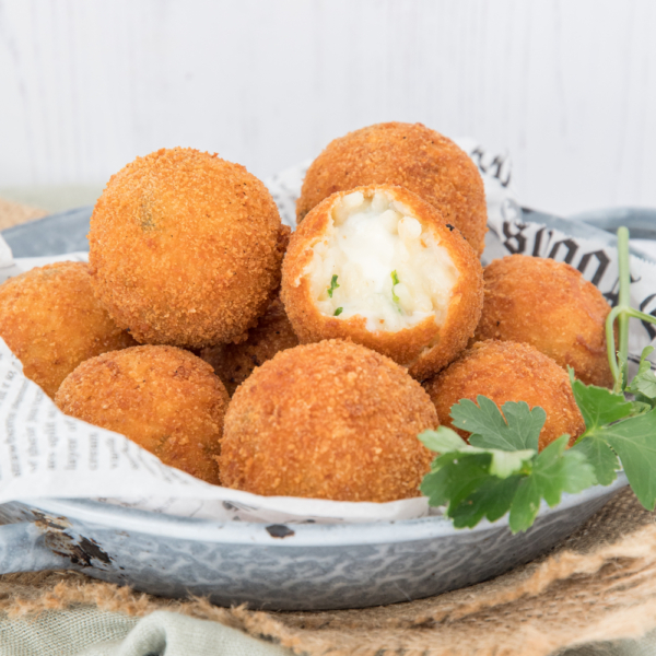 Risotto bitterballen met mozzarella - arancini