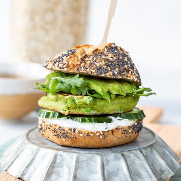 Vegetarische groene havermoutburger