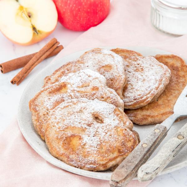 Volkoren appel-kaneel pancakes