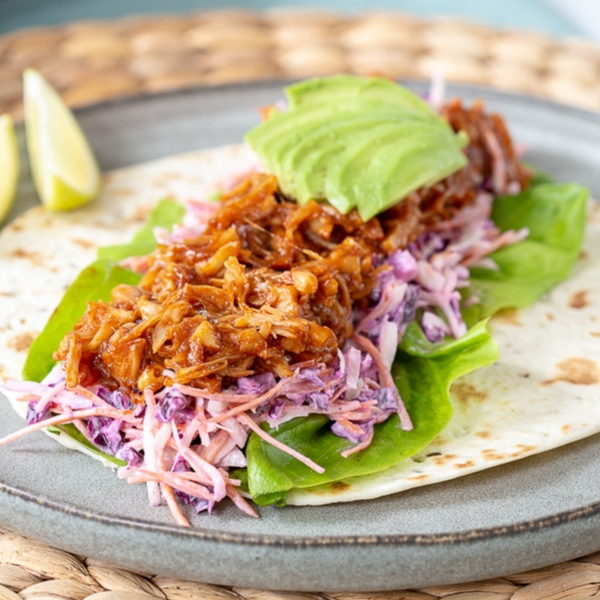Pulled jackfruit wraps