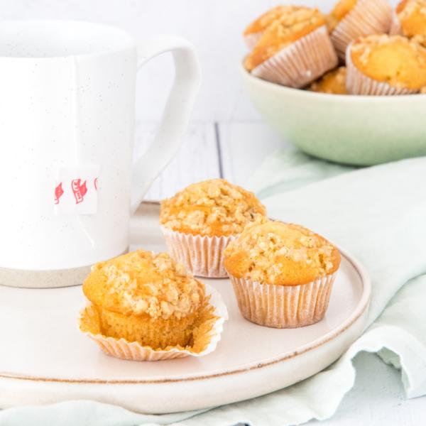 Mini citroen kruimelmuffins