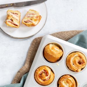 Bacon-kaas cruffin