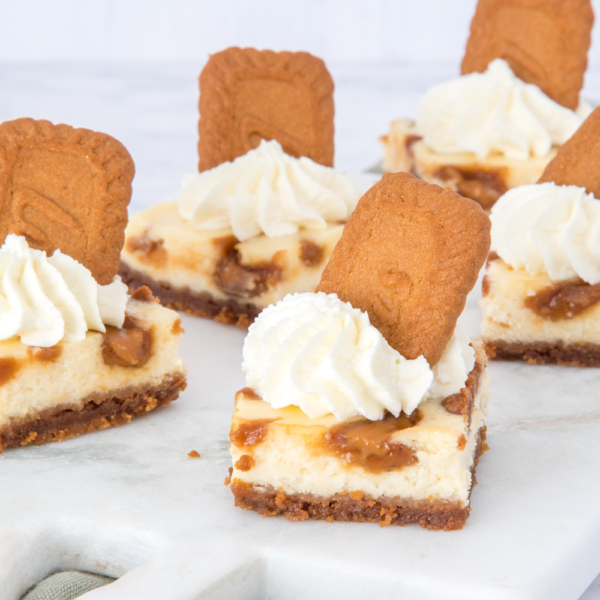 Speculoos cheesecake bites